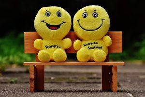 Two happy friends